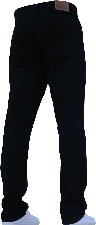 New Mens Denim & Dye Straight Fit Hardwearing Basic Jeans All Waist Sizes Black