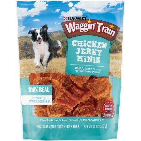 3 Pack of Purina Waggin' Train Chicken Jerky Minis Dog Treats 11 oz. by Purina Waggin' Train