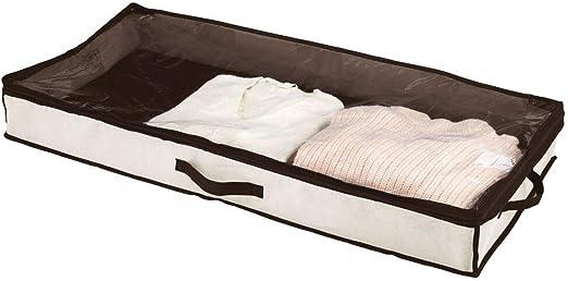 mDesign Cajón para debajo de la cama – Cajas bajo cama con tapa ...