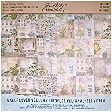 Tim Holtz Idea-ology Paper Stash, Vellum, Wallflower, 18-Sheet Pack, 12 x 12 Inches Each, (TH93148)