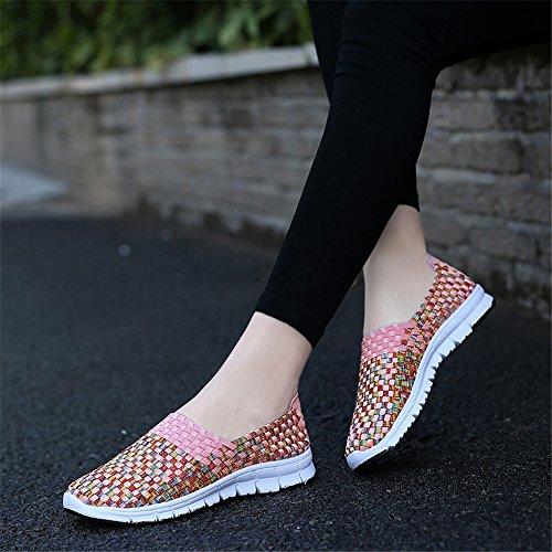 Mujer Zapatillas SH075 Rosa2 para AIRAVATA qwRt5