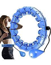 JOOAYOU Hula ring ring ring med viktboll, smart fitnessring ringar vuxen [med mjuk mått] träning 24 knutar avtagbar justerbar storlek aldrig – vuxen buk gymnastisk massage midja för barn äldre