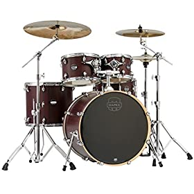 MAPEX MA529SFRW Mars Series 5 Piece Rock Drum Shell Pack, Blood Wood 9
