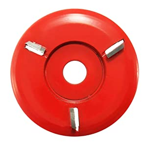 90mm Diameter 16mm Bore Red Power Wood Carving Disc Angle Grinder Attachment (Color: Red Round Teeth)