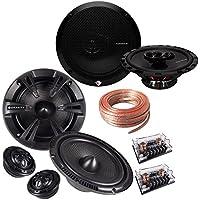 Rockford Fosgate Package R165X3 Prime 6.5-Inch Full-Range 3-Way Coaxial Speaker + Gravity SGR-654C 6.5-Inch 500 Watt 4 Way Component Speaker System + 100FT Speaker Wire