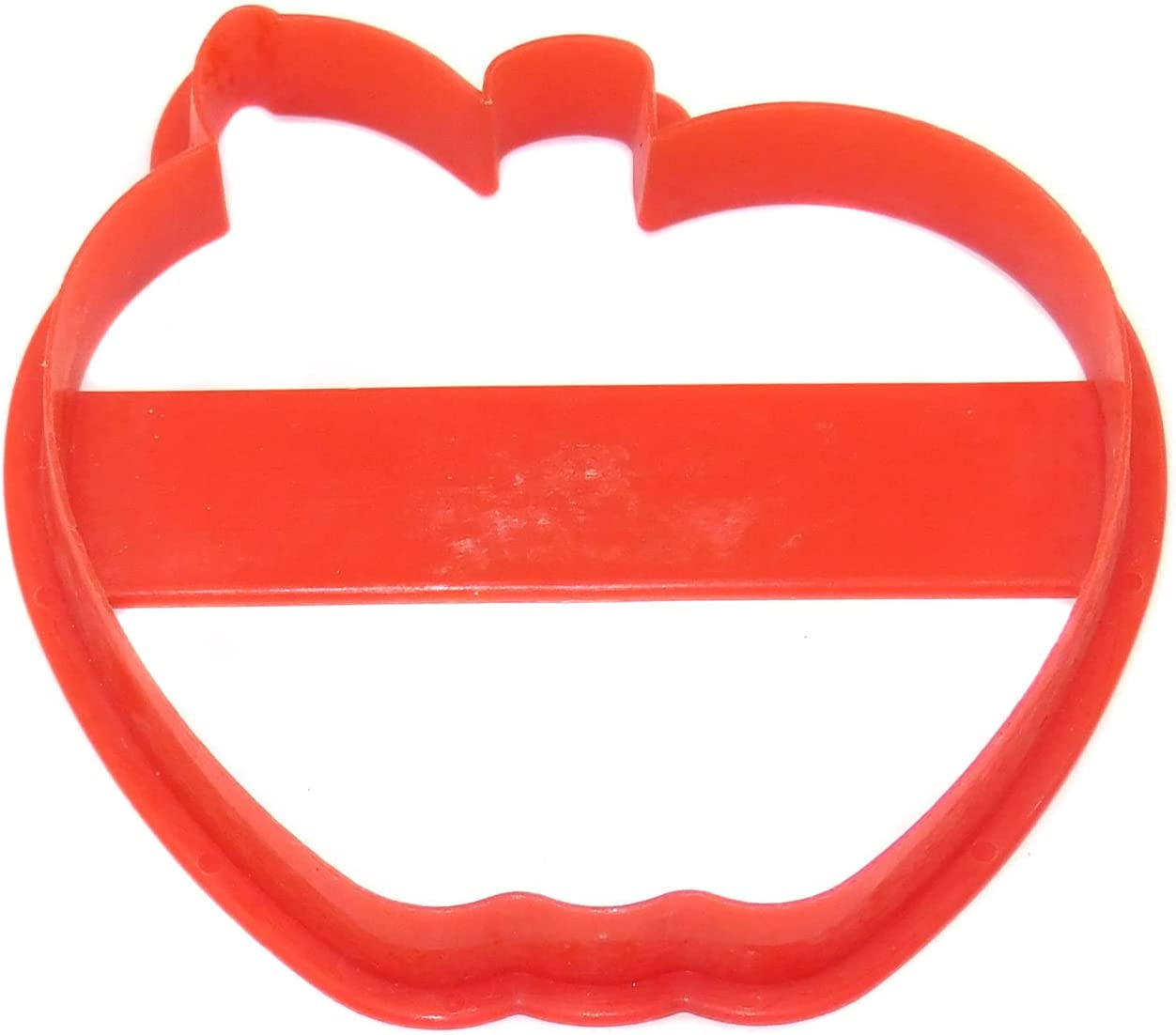 Vintage Red Plastic Wilton Apple Shaped Cookie Cutter