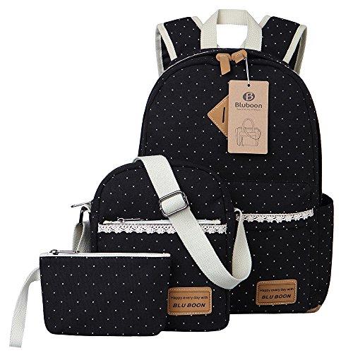 Schulrucksack Mädchen Canvas Damen Rucksack Schul Schulranzen/Schultaschen 3 in 1