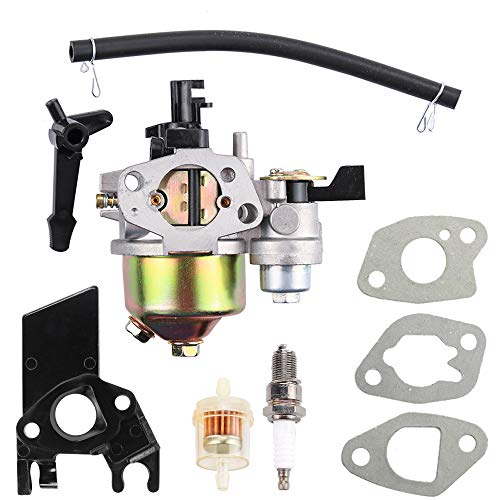Dxent GX160 Carburetor for Honda GX168F 5.5HP GX200 6.5 HP Engine WP30X EG1400 EZ2500 Generator 16100-ZH8-W61 16100-ZLO-W51 Carb with Choke Lever Intake Manifold Fuel Filter Parts Kit