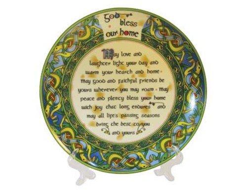 "Irish Home Blessing 8"" Decorative Plate"