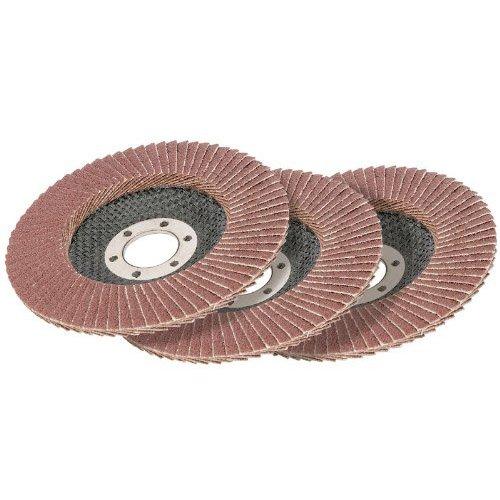 Draper Expert 21779 115 mm 60-Grit Aluminium Oxide Flap Disc (Pack of 3)