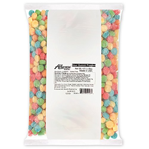 Albanese Candy, Sour Gummi Poppers, 4.5-pound - Sour Bears Gummi
