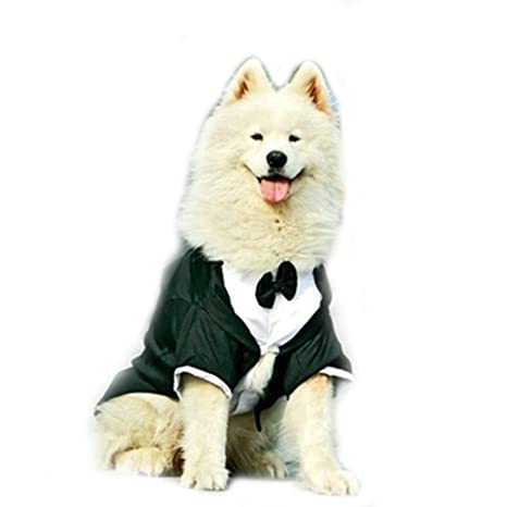 Perro grande para boda fiesta de esmoquin traje ropa para bulldogs Golden Retriever gran perro abrigo