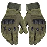 Size Medium Full Fingered Breathable Tactical Gloves with Knuckle Protection for Paintball, Airsoft, Cycling, and Motorcycle - Unisex - Army Green - by Science Purchase