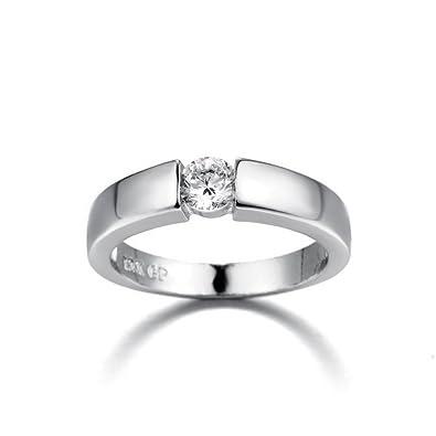 b605b54266 Gbell Fashion Unisex Wedding Rings Simple Diamond Rings Anniversary Jewelry  - Women's Gold Silver Zirconia Engagement