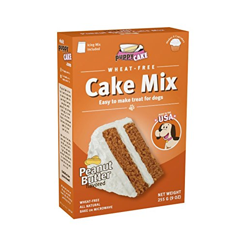51xnAbK1u L - Puppy Cake Wheat-Free Peanut Butter Cake Mix and Frosting for Dogs