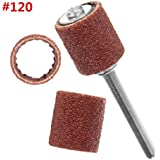 52pcs Grit Sanding Drum Sleeves Sander with 2 Mandrels for Dremel Rotary Tool (120#) by Thiny
