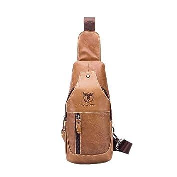 d85323d272 Sling Bags Hommes Sac de Poitrine Cuir Véritable Fait Main Sac à Dos Sacs à  Bandoulière