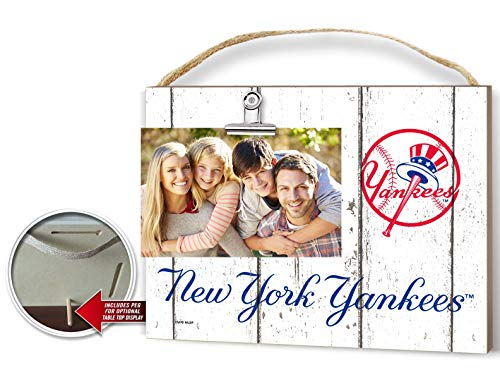 "KH Sports Fan 10""x8"" Weathered New York Yankees Clip It Logo Photo Frame 10"" x 8"""