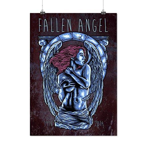 Fallen Angel Art Fashion Matte/Glossy Poster A2 (60cm x 42cm) | Wellcoda