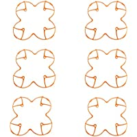 6 pcs Plastic Protection Cover for Hubsan H107 H107L V252 RC Quadcopter (Orange)