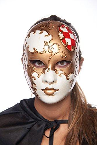 Automaton Full Face Venetian Masquerade Mask -