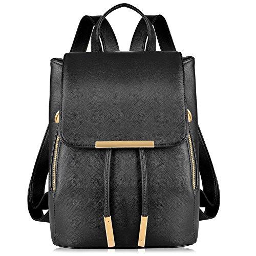 Leather Backpack Shoulder Schoolbag Daypack