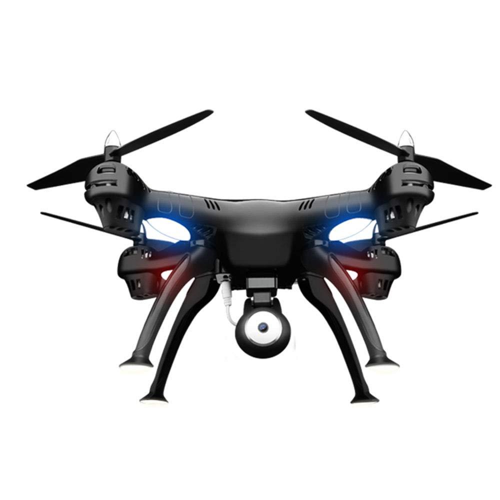 Drone with, RC Quadcopter Drone Altitude Hold Funzione Stepless-Speed, 1080P HD Camera e 5.8G Doppio Posizionamento GPS Follow -nero