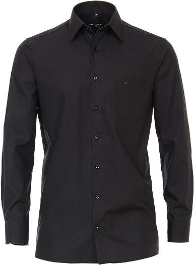 Camisa Tallas Grandes Negro Manga Larga Casa Moda: Amazon.es ...