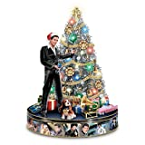 Elvis Rock 'N' Roll Pre-Lit And Musical Tabletop Christmas Tree by The Bradford Exchange