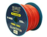 Absolute USA P16-500RD 16 Gauge 500-Feet Spool Primary Power Wire Cable (Red)