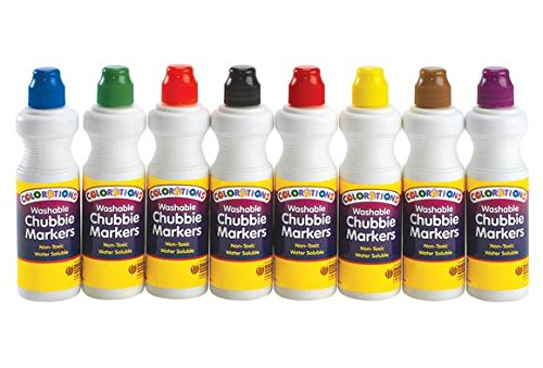 Colorations Sponge Washable Chubbie Markers (Pack of 8)