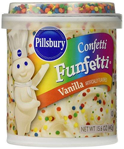 Pillsbury Confetti Funfetti Frosting, Vanilla, 15.6 oz (Recipe For Halloween Cookies From Scratch)
