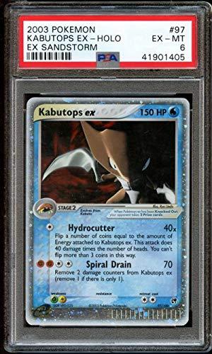 Kabutops EX Holo Foil Sandstorm PSA 6 EX-Mint 97/100, used for sale  Delivered anywhere in USA