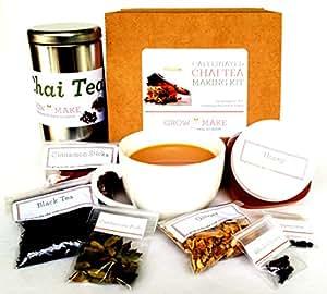 Artisan DIY Chai Tea Making Kit (caffeinated) - Learn how to make home made chai teas