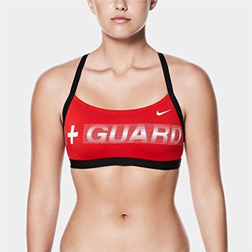 NIKE Women's Performance Guard Top (Red, Medium)
