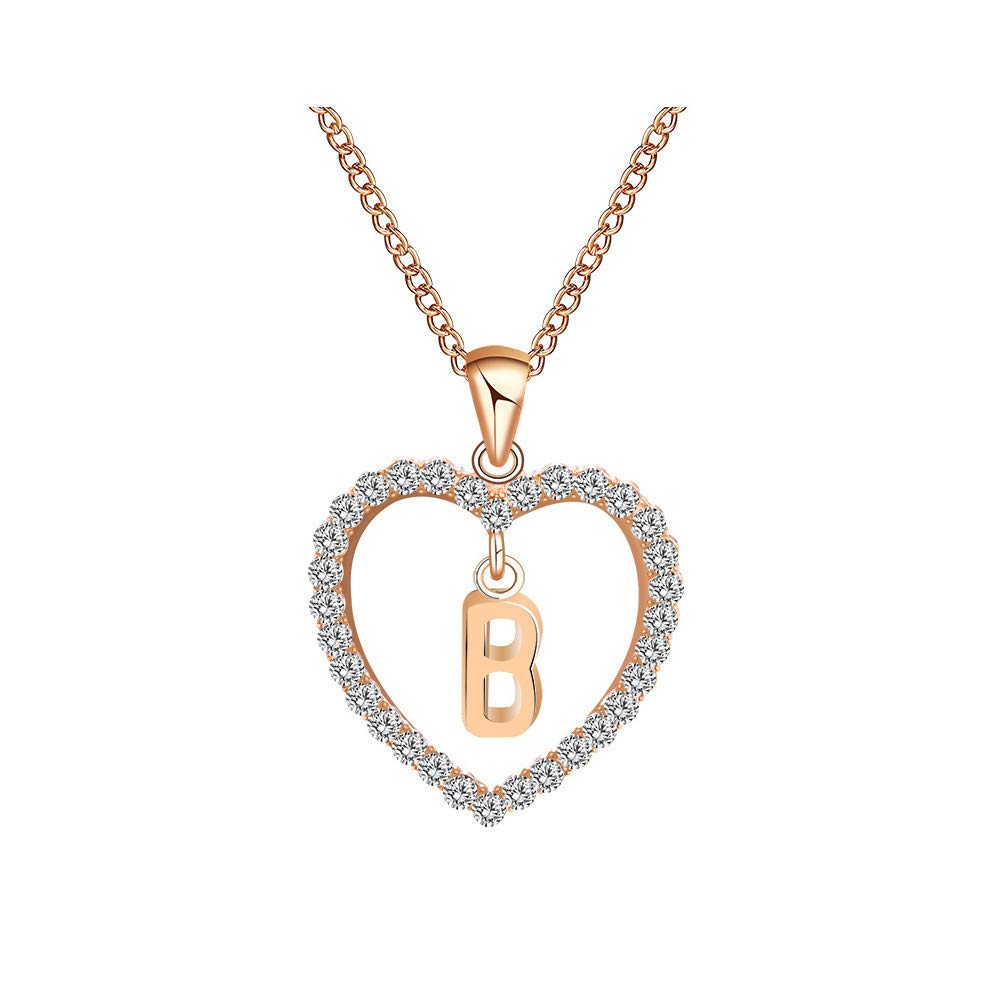 Fashion Women Gift 26 English Letter Name Chain Pendant Necklaces Jewelry Necklaces Jewelry for Women Girls Mom Bridesmaid Gift Personalized Long Chain Pendant Necklace