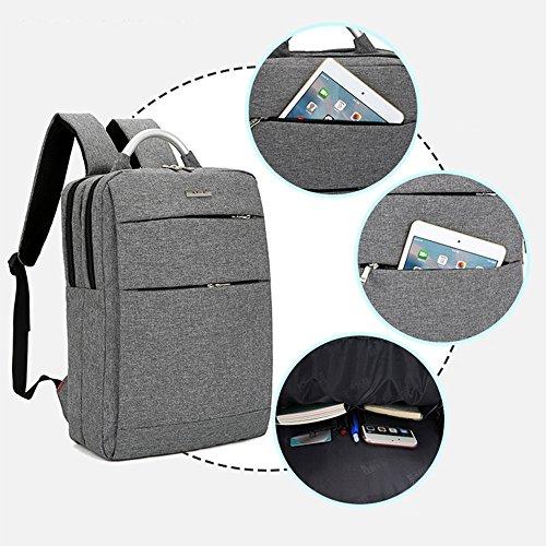 Coafit Lässiger Rucksack Laptop Rucksack Oberer Griff Mehrfache Tasche Große Kapazität Schule Tagesrucksack Light Grey h6fdOcYtJ