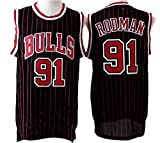 Men's Adult #91 Dennis Rodman Jersey Black M