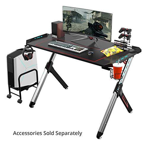 EUREKA ERGONOMIC Gaming Desk RGB Lighting R1-S Gaming Table 44.5