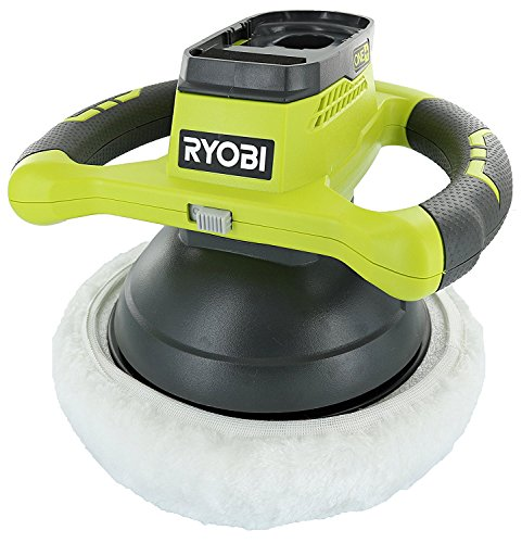 "Ryobi P435 One+ 18V Lithium Ion 10"" 2500 RPM Cordless Orbital Buffer/Polisher with 2 Bonnets (Battery Not Included, Power Tool Only)"