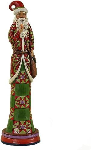 Enesco Jim Shore Heartwood Creek Pencil Santa with Pipe Figurine, 13-1 2-Inch