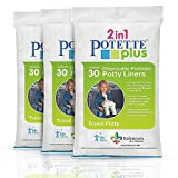 Kalencom Potette Plus Liners - 90 Liners, Pack of 3: more info