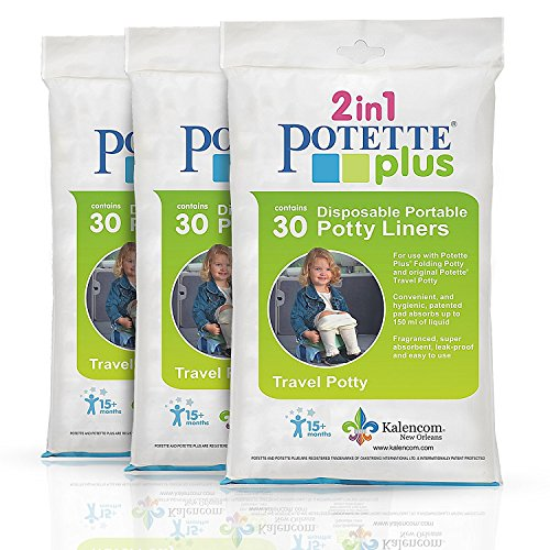 Kalencom Potette Plus Liners - 90 Liners, Pack of 3