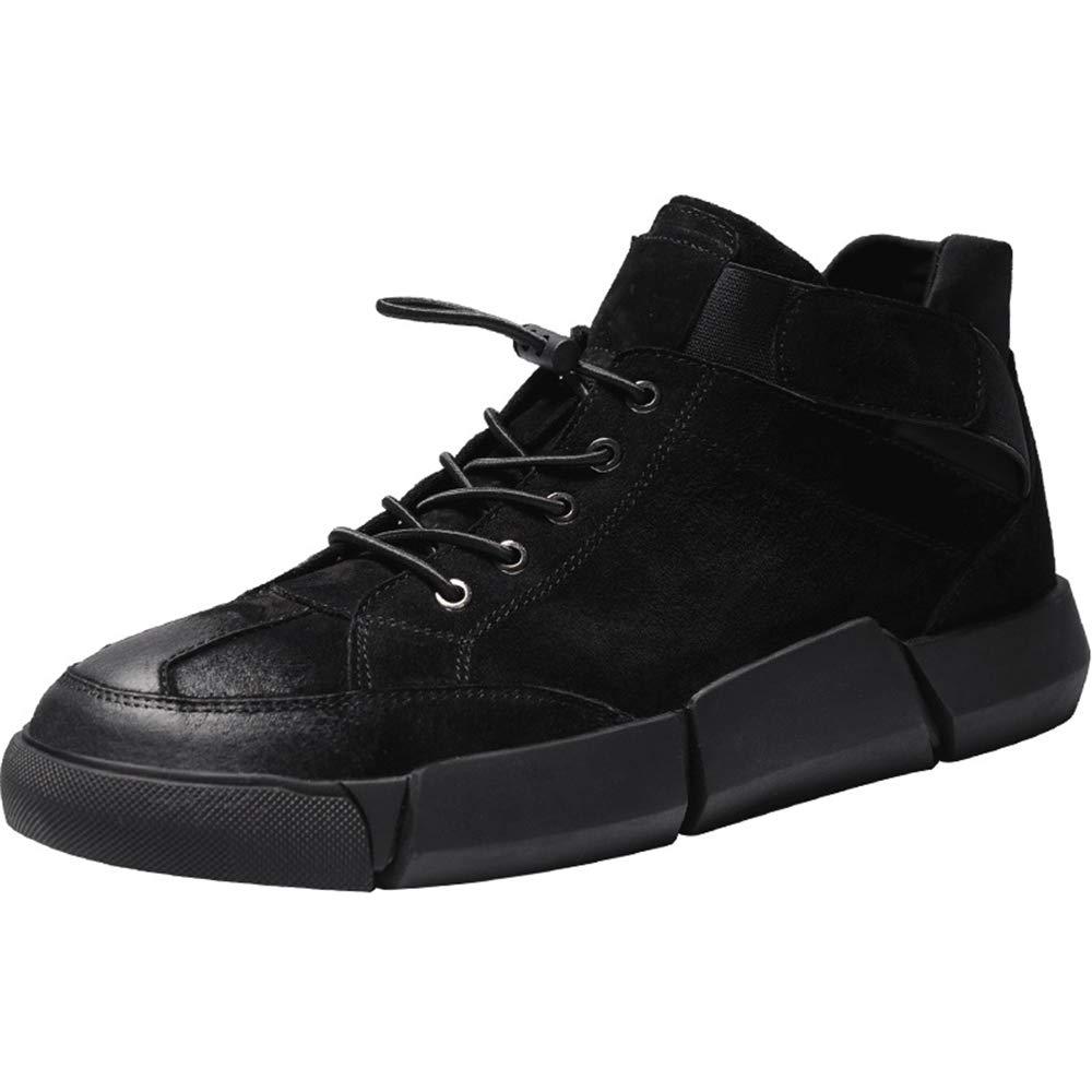 ZHRUI Lässige Polierte Lederstiefel für Männer Weiche Sohle Durable Non Slip Comfort Stiefel (Farbe   Schwarz, Größe   EU 42)