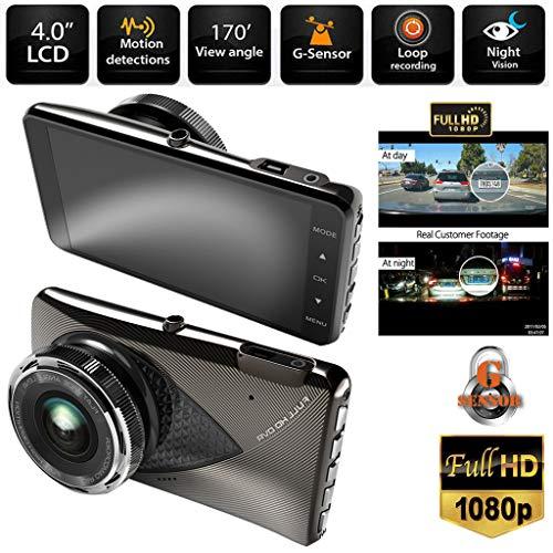 Lljin A6 HD 1080P Vehicle Camera Car DVR Video Recorder Dash Cam Night Vision 3.0 inch