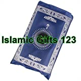 Pocket prayer Rug,Muslim islamic Rugs.Travel Pocket Rug--BUY BY Wholesale-Ramadan Gift,Portable Rug (48, Blue)