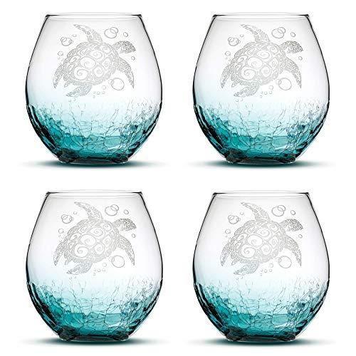 Stemless Glasses Crackle Integrity Bottles product image