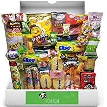 Over-sized Asian Dagashi Snack Box (48 individually wrapped snacks and treats) Assortment of Japanese Candy, Korean Snacks and More! | Gift Care Package | Custom Giftwrap