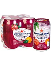 San Pellegrino Melograno E Arancia Can, 330ml (Pack of 4)