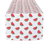 DII CAMZ11296 Table Runner, Spilll Proof and Waterproof for Outdoor or Indoor Use, Machine Washable, 14x72, Watermelon